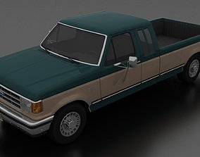 3D model F-250 XLT Lariat Pickup SuperCab 1987