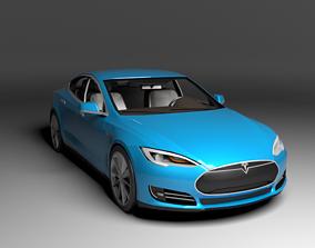 TESLA MODEL S 2013 LOWPOLY 3D asset