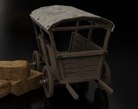 Wooden Cart 3D horse