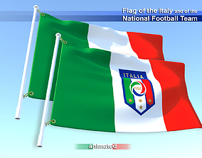 3D model Flag of the Italy and of the National Football
