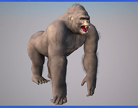 Low poly Gorilla Animated - Game Ready 3D asset