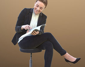 Nelly 10328 - Sitting Business Woman 3D asset
