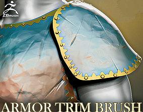 Armor Trim Brush for ZBrush 3D model