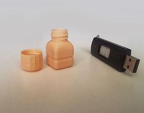 Bottle and Screw Cap bottle-cap 3D printable model