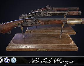 3D asset MACEGUN - Flintlock Pistol