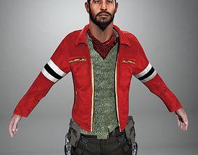3D model Zombie Killer Rigged