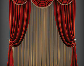 game-ready Curtain 3D model 240