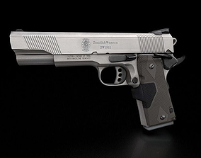 45 ACP Smith and Wesson Gun Model Lowpoly Free 3D asset