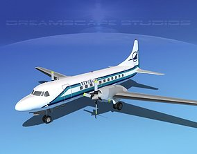 Convair CV-580 Republic 3D model