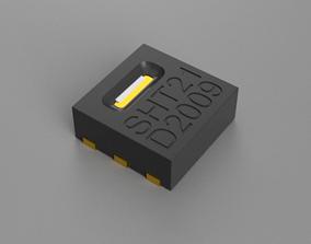 SHT21 3D model chip sensor