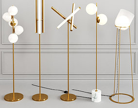 WEST ELM Floor Lamp set 3D model