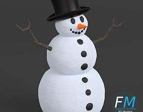 Snowman 3D PBR models