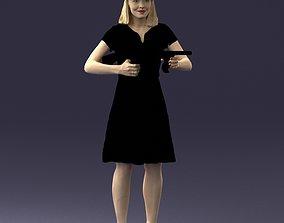 machine-gun Gangster girl 0921 3D model