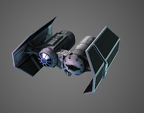 3D asset Low poly Tie Bomber
