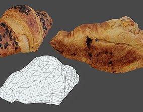 Croissant 02 - Low Poly - Photogrammetry 3D asset