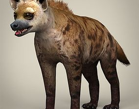 Low Poly Realistic Hyena 3D asset
