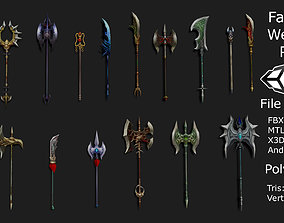 3D model Fantasy RPG Weapon Pack
