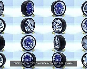 3D model ORTAS CAR RIM 65-66 GAME READY RIM AND TIRE