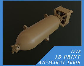 US GP BOMB AN-M30A1 100LB 1-48 3D printable model