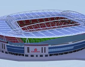 Emirates Stadium Low poly 3D asset