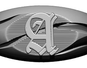 3D printable model A lettering symbol ring