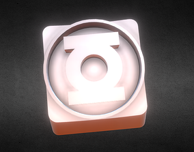 Green Lantern logo Keycap 3D printable model