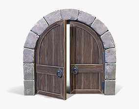 Stylized Arched Door 3D asset