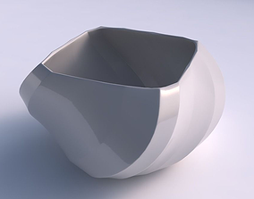Bowl helix with bands uniform vertical 3D print model