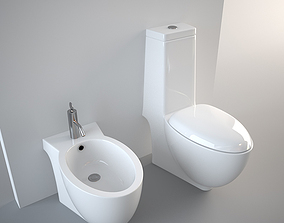 Generic Bidet and Toilet 3D