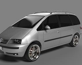 3D car Volkswagen Sharan 2009