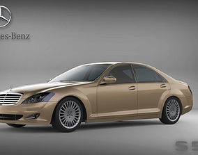 3D model 2005 Mercedes-Benz W221 S-Class S 500