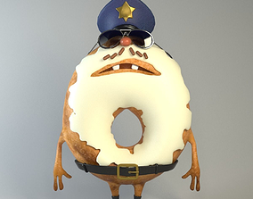 3D model Donut sheriff Food creatures series