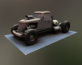 Tow Truck Big Brat 3D model realtime