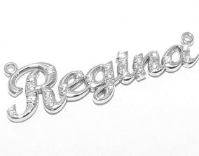 3D printable model form of Regina name