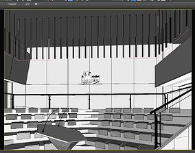 3D model Corporate lecture hall design