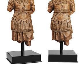 3D asset Torso Cuirass statue of a Roman Emperor