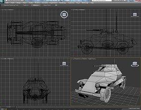 sd kfz 222 armored vehicles 3D asset