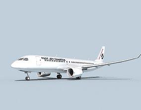Bombardier CS100 Fast Jet Charter 3D