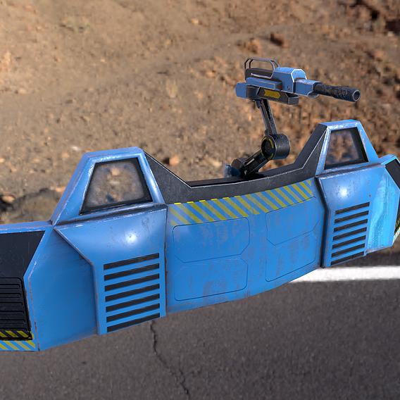 scifi barrier with gun