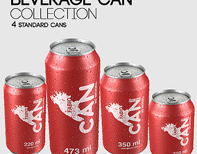 3D model Beverage Can Collection - 4 Sizes