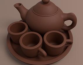 3D Traditional Tea Pot Set originally made of clay