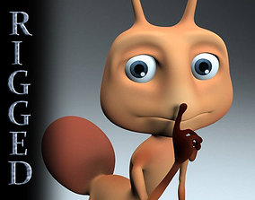 3D asset Rigged cartoon Ant character