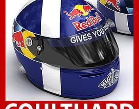 3D model Helmet F1 2008 David Coulthard