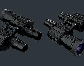 3D asset Binoculars Low Poly Game Ready