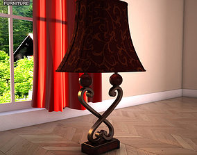 Ashley Key Town Table Lamp 3D asset