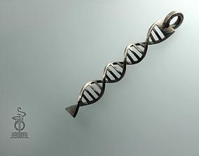 DNA pendant 3D printable model