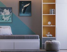 3D model Childrens Room Interior Scene and Corona Render