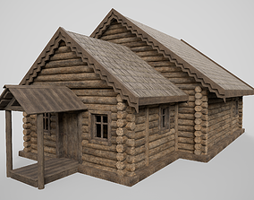 Old hut 3D model low-poly