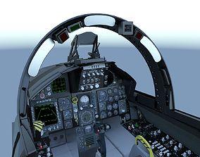3D F-15C Cockpit military