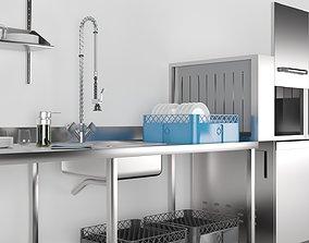3D model kitchen Dish Washer Industrial